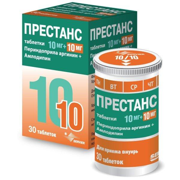 Таблетки от давления Престанс: инструкция по применению ...