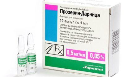 Таблетки и уколы «Прозерин»: инструкция, цена, отзывы и аналоги