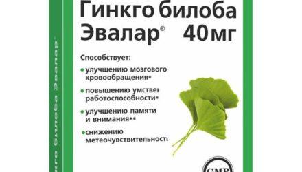 Таблетки 40 мг Гинкго Билоба: инструкция по применению, цены и отзывы
