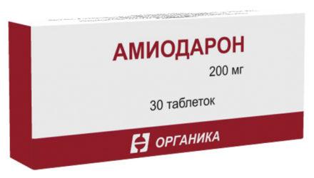 Таблетки 200 мг, уколы 5% Амиодарон: инструкция по применению, цены и отзывы