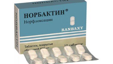 Таблетки 400 мг Норбактин: инструкция по применению