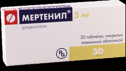 Таблетки 5 мг, 10 мг, 20 мг и 40 мг Мертенил: инструкция по применению